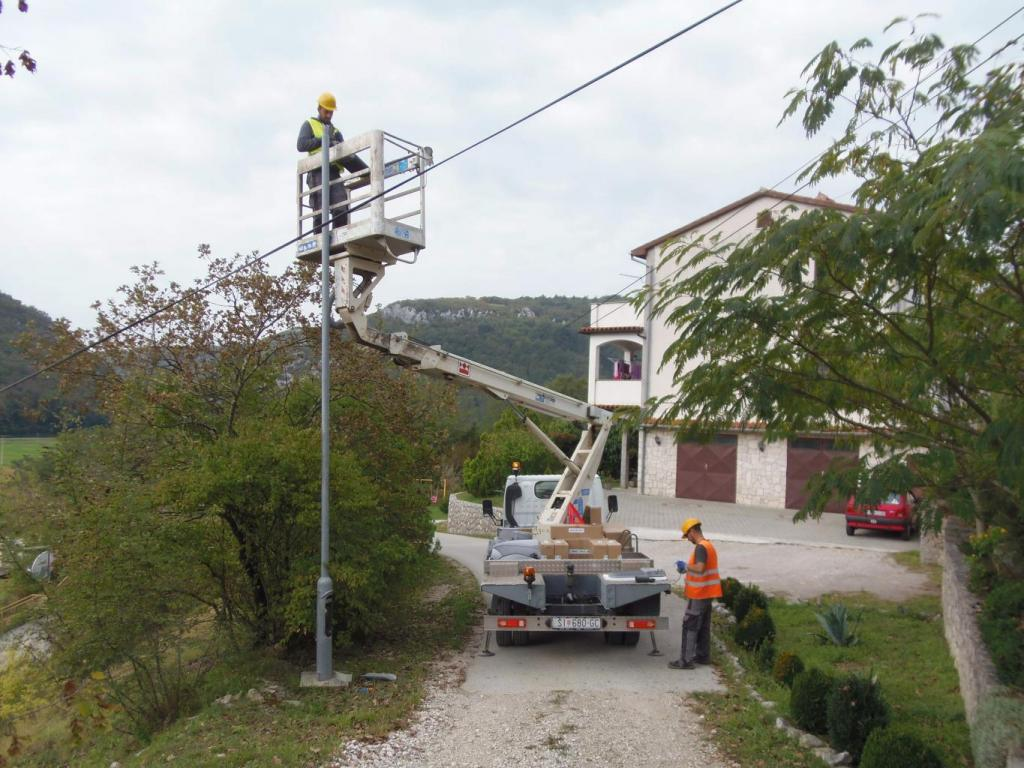 LED lighting in City of Buzet